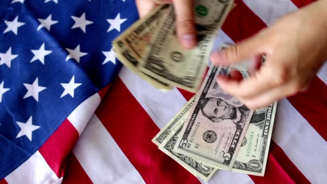 dollars with american flag video