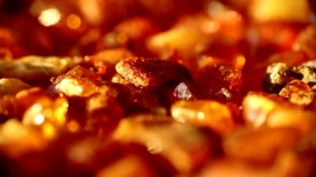 Dolly amber stone macro video