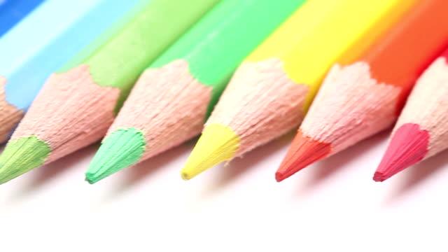 Dolly: Color pencils in a row video