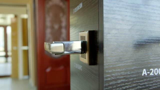 Dolly: Door hardware, knobs, levers in the doors store showroom video