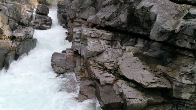 Dolly Left to Fresh Water at Pacific Northwest Canyon River in 60P 4K Environment Shot video