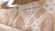 Dolly: Linoleum flooring samples video