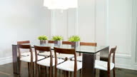 HD Dolly: Modern Dining Room video
