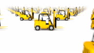 Dolly over many Forklifts to single Forklift video