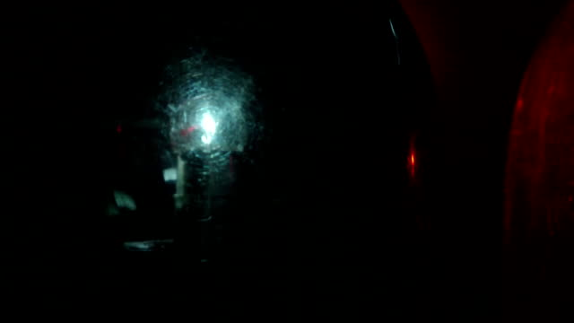 Dolly: Red Blue Emergency Vehicle Lighting video