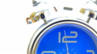 Dolly Shot: Alarm Clock on white background video