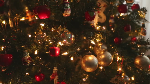 dolly shot  Christmas Tree Ornaments video