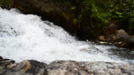 Dolly Shot: Flowing Water at Waterfalls video