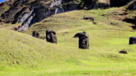 Dolly shot: Moais on Rano Raraku video