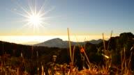 Dolly Shot: Mountain Scenic Landscape at Sunrise video