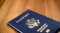 CU Dolly Shot of USA Passport, Shallow DOF video