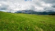 Dolly shot Time Lapse, Moving cloud at Seiser alm, Dolomites video