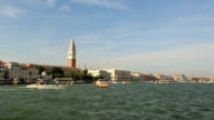 Dolly Shot Traffic on the Grand Canal (Canale Grande) video