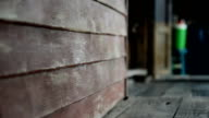 dolly,old wall in thai wooden house video