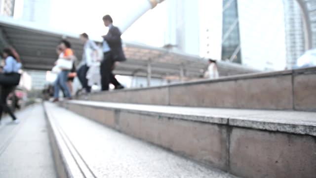 HD Dolly:People are walking public walkway. video