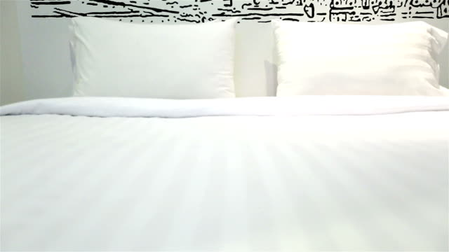 HD Dolly:Pillows placed on the bed video