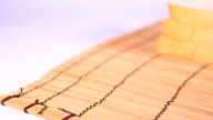 HD Dolly:Sliced bread on the wooden plate video