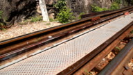 HD Dolly:Tracks that have a rusty old. video