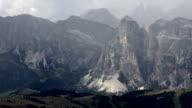 Dolomites Mountains in Autumn Tilt Up video