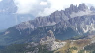 Dolomites Mountains Viewed from Mt. Lagazuoi TILT UP video