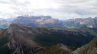 Dolomites Mountains Viewed from Mt. Lagazuoi PAN video