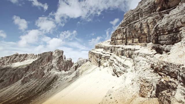 Dolomites panning panorama warm summer day video