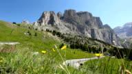 Dolomites, Passo Sella, Mountain Landscape, Italian Alps video