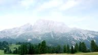 Dolomites time lapse with incoming fog video