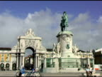 Dom Jose the First Plaza Lisbon Portugal video