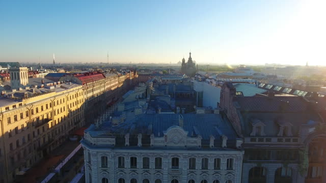 Dome of house book in Saint-Petersburg video