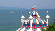 Dome of the circus near the sea video