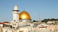 Dome of the Rock and the Western Wall in Jerusalem video