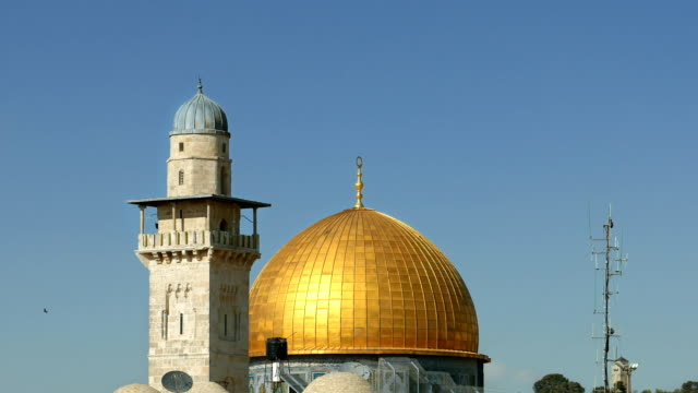 Dome of the Rock and Western Wall in Jerusalem video