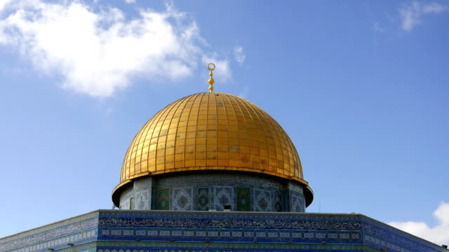 Dome of the Rock in Jerusalem over Temple Mount video