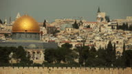 Dome of the Rock Mosque with Jerusalem Skyline video