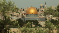 Dome of the Rock Muslim Mosque in Holy City Jerusalem video