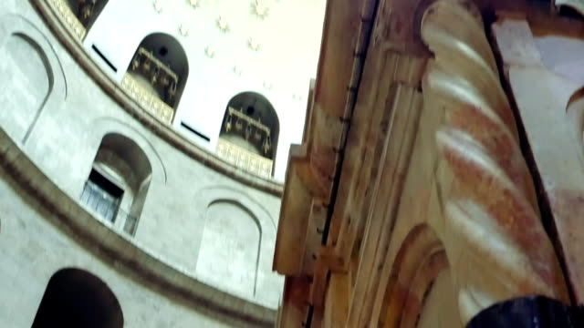Dome over Jesus Empty Tomb in Jerusalem video