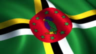 Dominica Flag  Loopable video