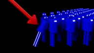 Domino effect in financial crisis video