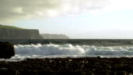 Doolin Coastline And Cliffs Of Moher At Stormy Weather video