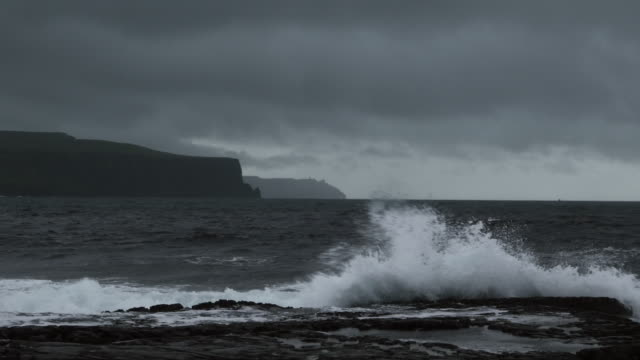 Doolin Coastline And Cliffs Of Moher In Stormy Weather video