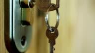 Door lock with key video