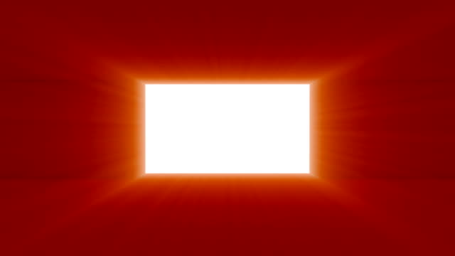 Door or gate opening to a bright ray light video