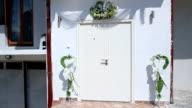Door with wedding decoration video