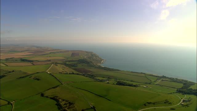 Dorset coast - Aerial View - England, United Kingdom video