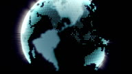 Dot world globe video