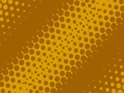NTSC Dots fade on diagonal line background video