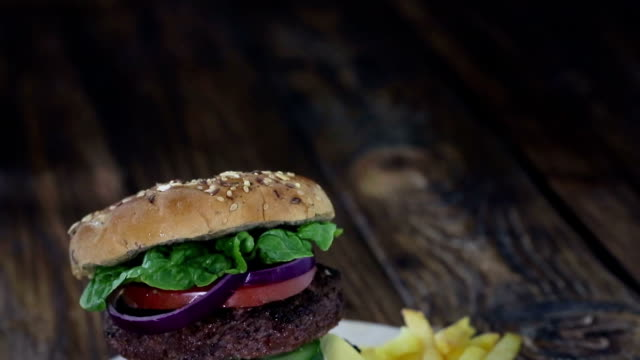 Double Burger and Fries video