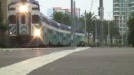 (HD1080i) Double Decker Commuter Train Crosses video