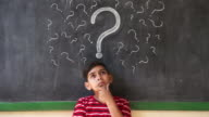 Doubts And Thoughts With Hispanic Child Thinking At School video